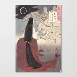 Iga no Tsubone by Tsukioka Yoshitoshi, 1886 Canvas Print