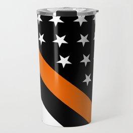 Search & Rescue: Black Flag & Thin Orange Travel Mug