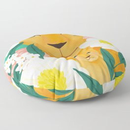 Mother Lion and Cub I Floor Pillow