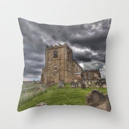 St. Mary's Church in Whitby on the Yorkshire Coast in England Throw Pillow