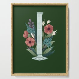 Floral Graduated Cylinder Serving Tray