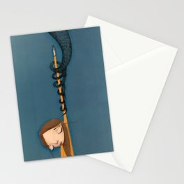 drowned in Liquid  Stationery Cards
