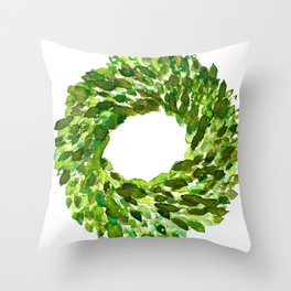 Boxwood Wreath Throw Pillow