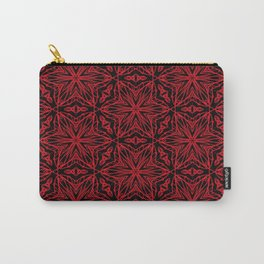 Black and red geometric flowers 5006 Carry-All Pouch
