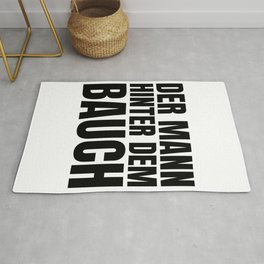 The man behind the belly song bacon text gift Rug