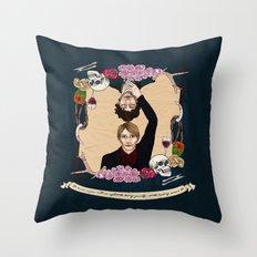 Folie à Deux  Throw Pillow
