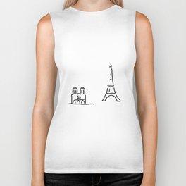 Paris eiffelturm notre dame Biker Tank