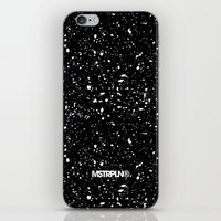 Retro Speckle Print - Black iPhone Skin