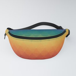 Colorful Geometry Pattern Abstract Rainbow Trendy Color Fanny Pack