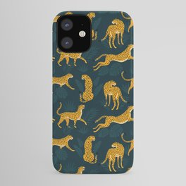 Leopard pattern Black iPhone Case