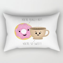 Donut and Coffee  |  Really Hot and So Sweet Rectangular Pillow