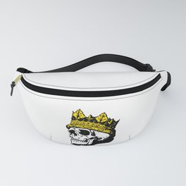 Skull with a Gold Crown Fanny Pack