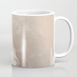 White Quartz Abstract, Right Coffee Mug