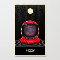 the moon Canvas Prints featuring Moon by Omega Man 5000