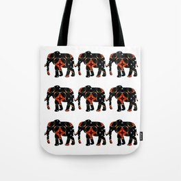 Elephant Tales Pattern Tote Bag