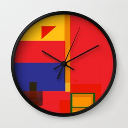 Abstract Architecture Wall Clock