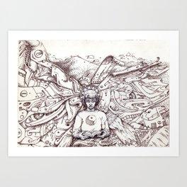 Para além da espiral Art Print