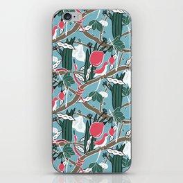 Hiding Birds Pink iPhone Skin