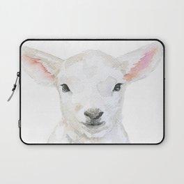 Lamb Face Watercolor Laptop Sleeve