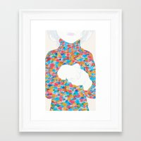 knit Framed Art Prints featuring FEBRUARY KNIT by kasi minami