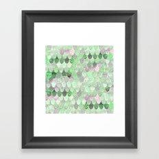 MERMAID SCALES GREENERY - SUMMER MERMAID Framed Art Print