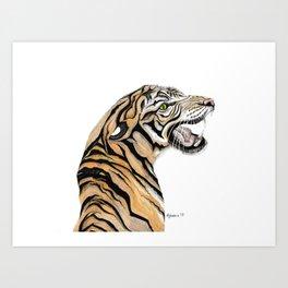 Tiger Totem Art Print