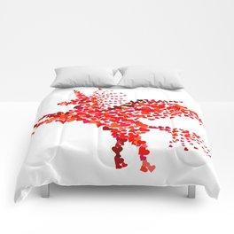 Extremely hearty unicorn pegasus Comforters