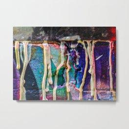 Paint drip cool colors Metal Print