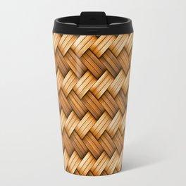 Basket Weave Pattern Travel Mug