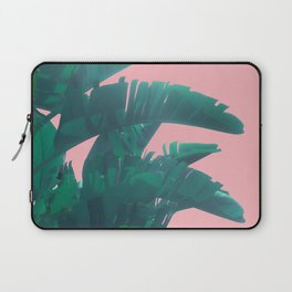 Banana Leaves on pink Laptop Sleeve