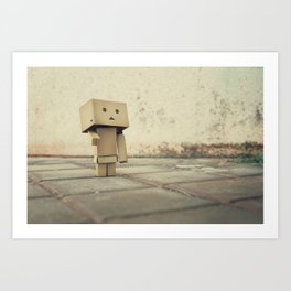 Danbo on the street Art Print