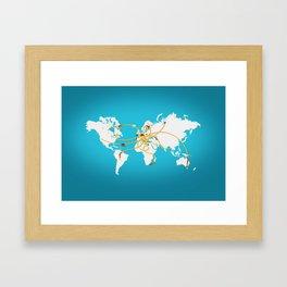 The Spaghetti Connection Framed Art Print