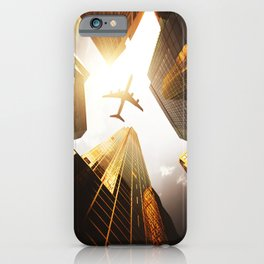airplane in nyc iPhone Case
