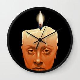 Wax Wall Clock