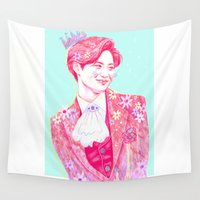 prince Wall Tapestries featuring Fairy Prince by sophillustration