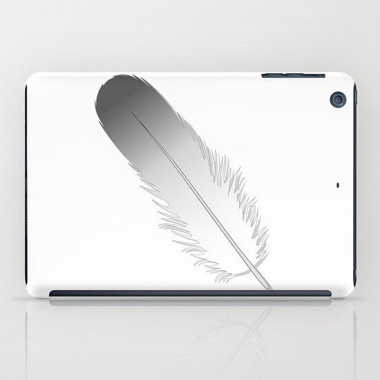 White Fuzz Feather iPad Case