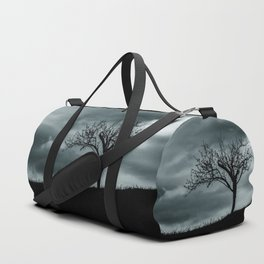 Alone tree before the storm Duffle Bag