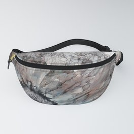 Alcohol Ink - Black and White Daisy Fanny Pack