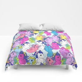 g1 my little pony sea pony collage Comforters