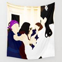 jewish Wall Tapestries featuring Jewish wedding by Design4u Studio