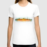 kansas city T-shirts featuring Kansas City Skyline Hq v3 by HQPhoto
