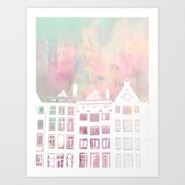 Amsterdam Netherlands Row Houses Art Print