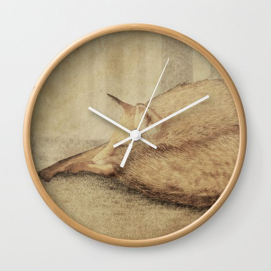 A Quiet Place (sepia option) Wall Clock