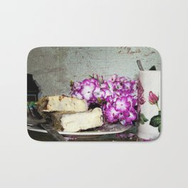 Coffee and Cake Still Life Bath Mat