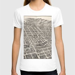 Vintage Pictorial Map of Reno Nevada (1907) T-shirt