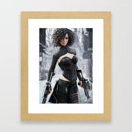 Fantasy female hunter Framed Art Print