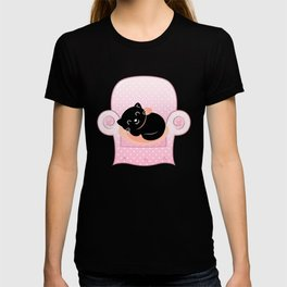 Cat sleeps on Sofa Vector cartoon Illustration T-shirt