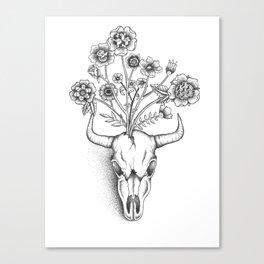 Animal Skull Bouquet Canvas Print
