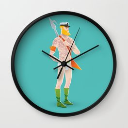 Rocker Aquaman blue Wall Clock