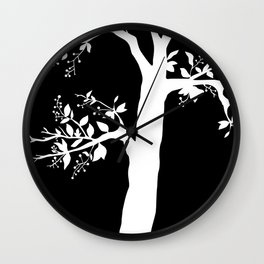 Chokecherry Tree Wall Clock